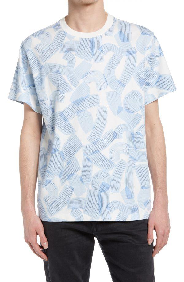 Men's Club Monaco Men's Brushstroke T-Shirt, Size X-Large - White