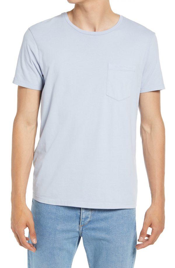Men's Club Monaco Men's Williams Pocket T-Shirt, Size Small - Blue
