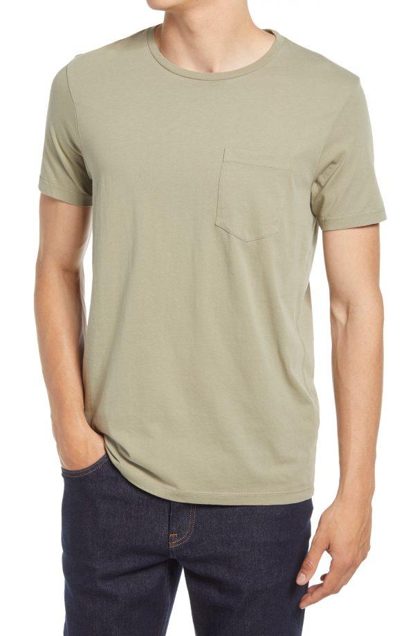 Men's Club Monaco Men's Williams Pocket T-Shirt, Size X-Large - Green