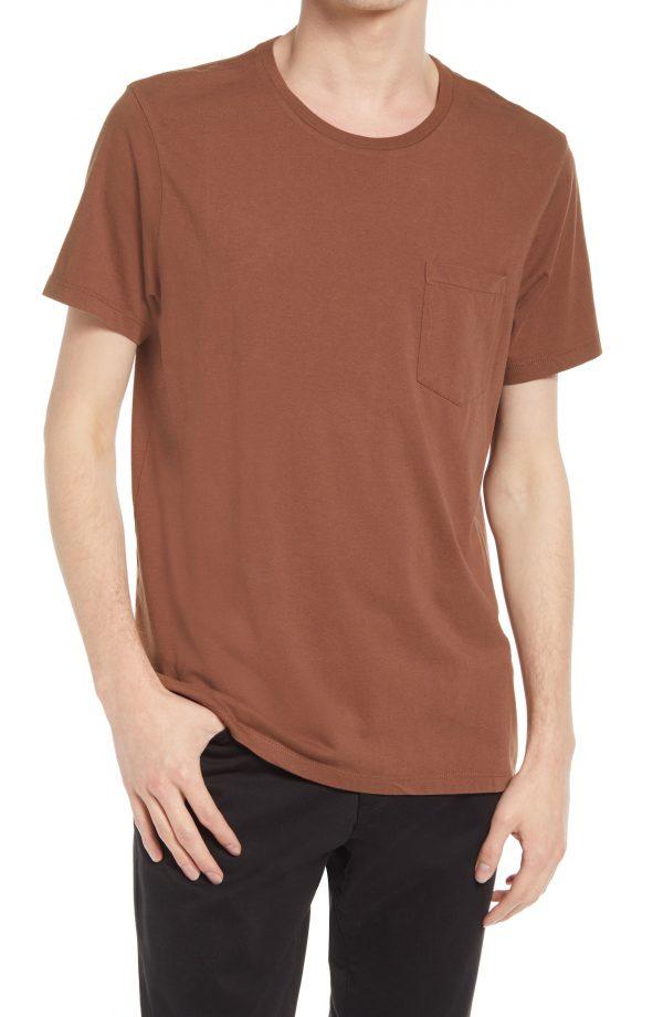 Men's Club Monaco Men's Williams T-Shirt, Size Large - Brown
