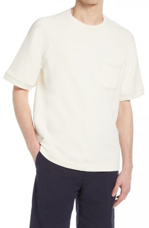 Men's Club Monaco Oversize Short Sleeve Pocket T-Shirt, Size Small - Beige