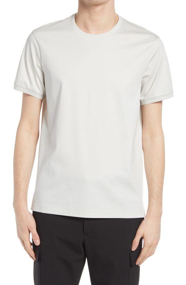 Men's Club Monaco Refined Solid T-Shirt, Size Medium - Grey