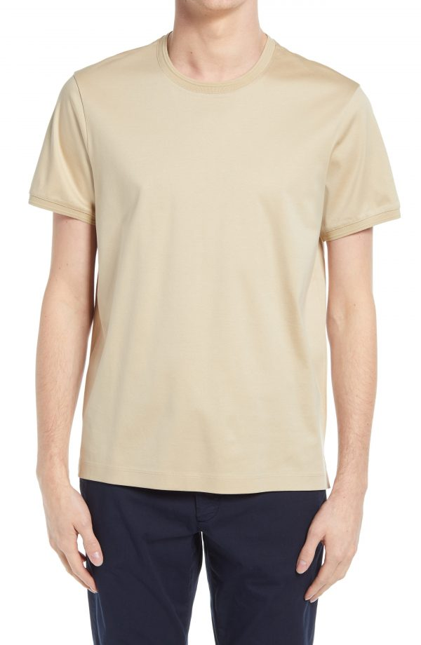 Men's Club Monaco Refined Solid T-Shirt, Size Small - Beige