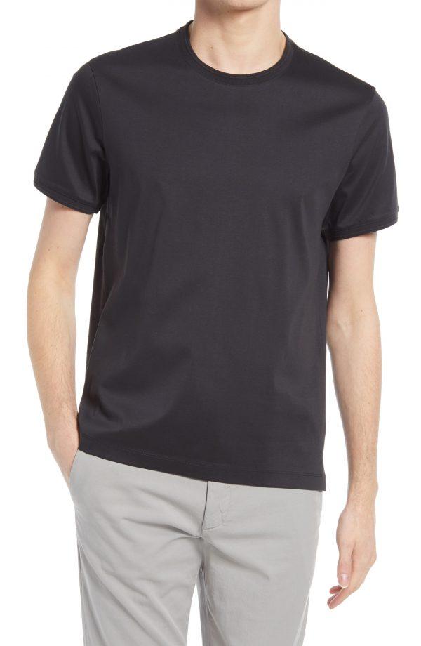 Men's Club Monaco Refined Solid T-Shirt, Size Small - Black