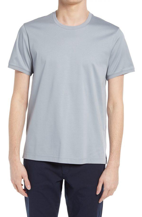 Men's Club Monaco Refined Solid T-Shirt, Size Small - Grey
