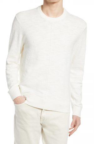 Men's Club Monaco Slub Crewneck Sweater, Size Small - Beige