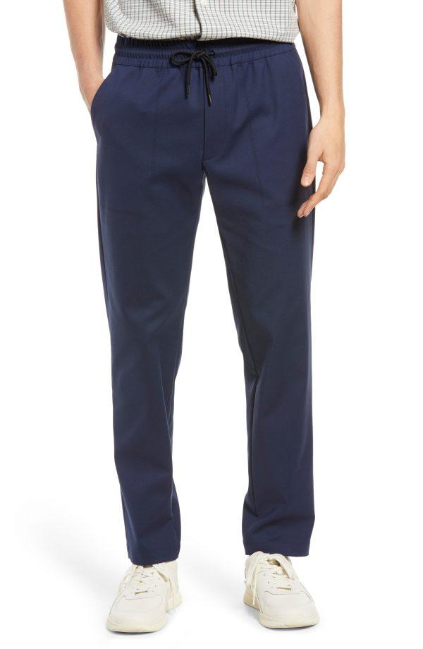 Men's Club Monaco Stretch Cotton Blend Travel Pants, Size Small - Blue