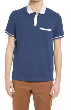Men's Club Monaco Welt Pocket Polo, Size Medium - Blue