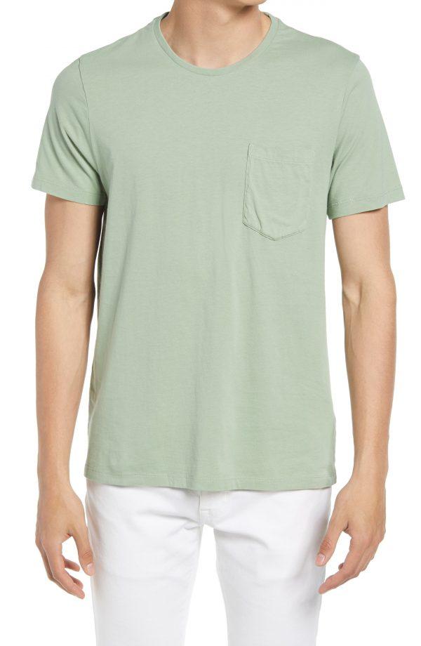 Men's Club Monaco Williams Pocket T-Shirt, Size XX-Large - Green