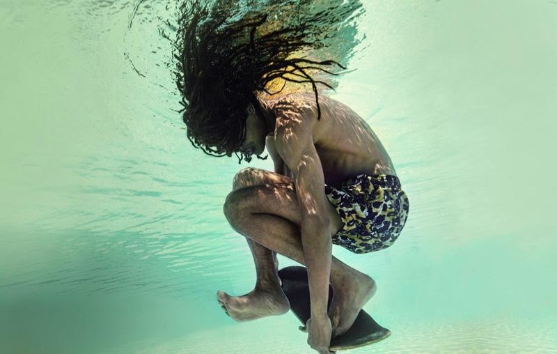 Palm Angels x Vilebrequin Camouflage Swim Shorts