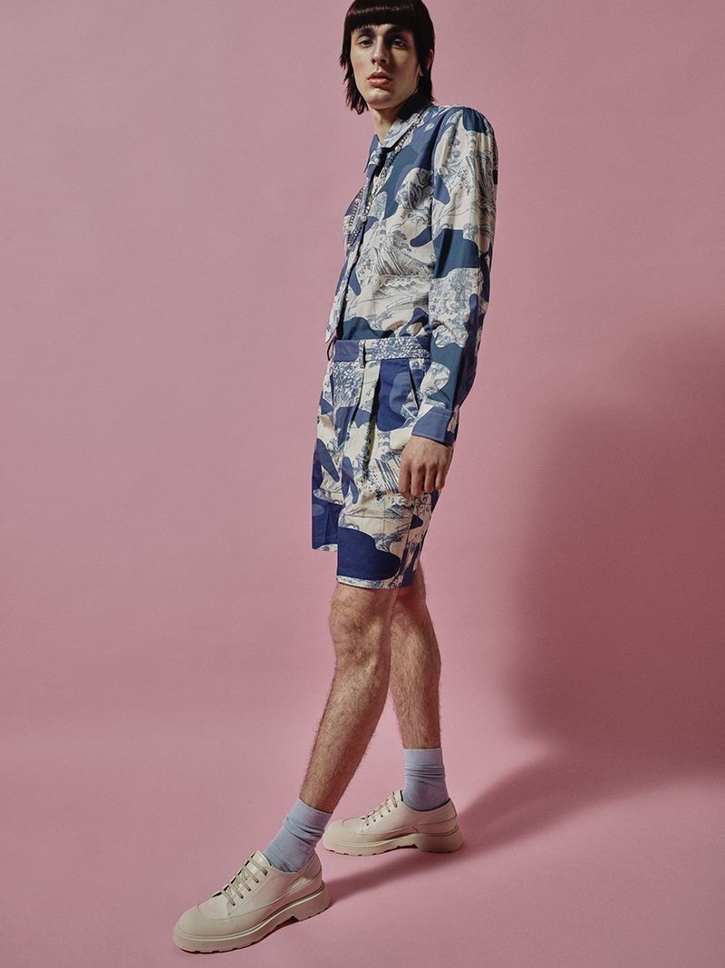 Paweł Dobberstein Sports Pastel Fashions for GQ Portugal