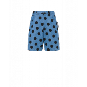 Polka Dots Denim Bermuda Shorts