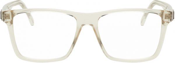 Saint Laurent Beige SL 337 Square Glasses