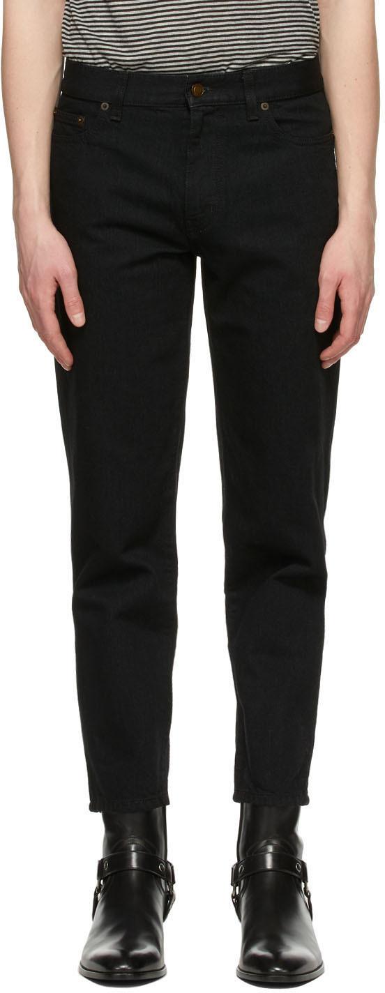 Saint Laurent Black Carrot Fit Jeans