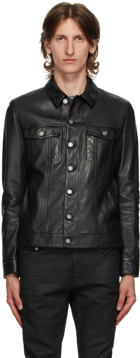 Saint Laurent Black Classic Leather Jacket