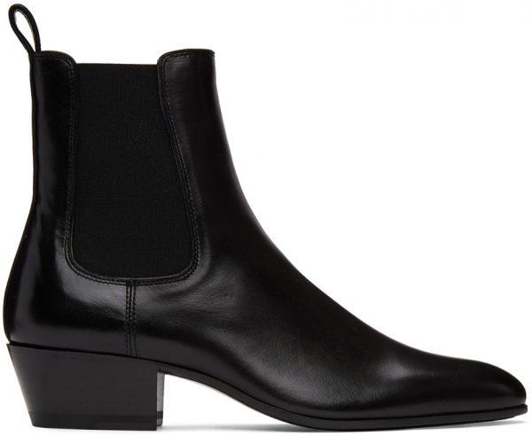 Saint Laurent Black Cole Chelsea Boots
