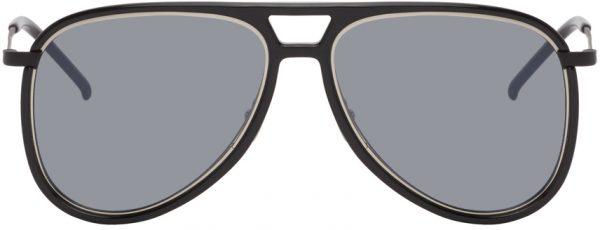 Saint Laurent Black SL 002 Sunglasses