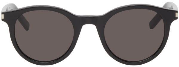 Saint Laurent Black SL 342 Round Sunglasses