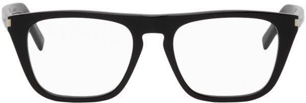 Saint Laurent Black SL 343 Square Glasses