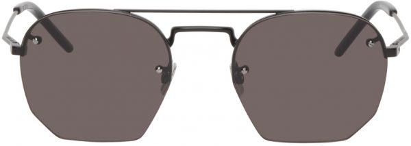 Saint Laurent Black SL 422 Aviator Sunglasses