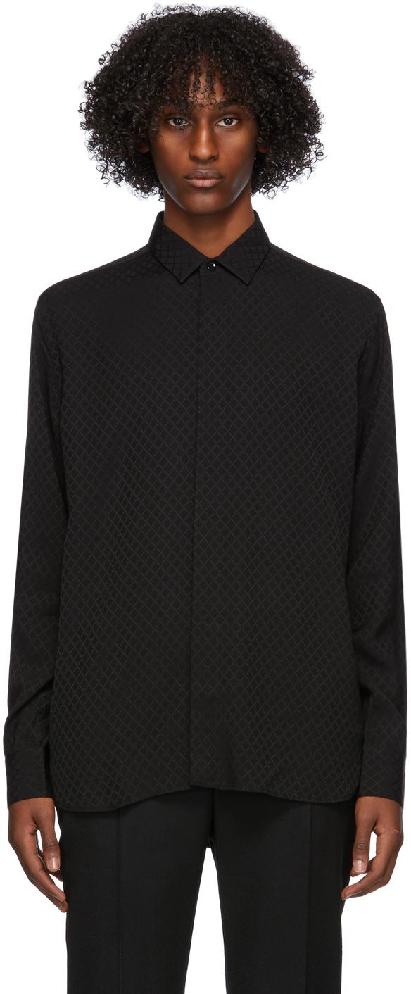 Saint Laurent Black Satin Shirt