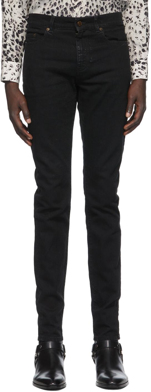 Saint Laurent Black Skinny Mid-Rise Jeans