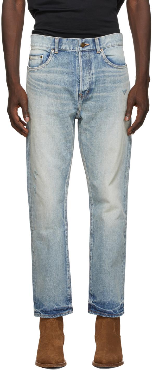Saint Laurent Blue High-Rise 70s Jeans