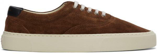 Saint Laurent Brown Suede Venice Sneakers