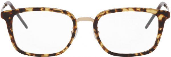 Saint Laurent Gold & Tortoiseshell SL 452 F Slim Glasses