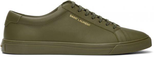 Saint Laurent Green Andy Sneakers