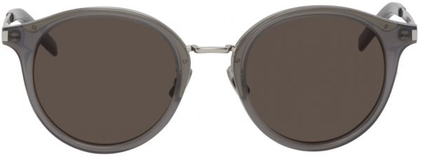 Saint Laurent Grey SL 57 Round Sunglasses