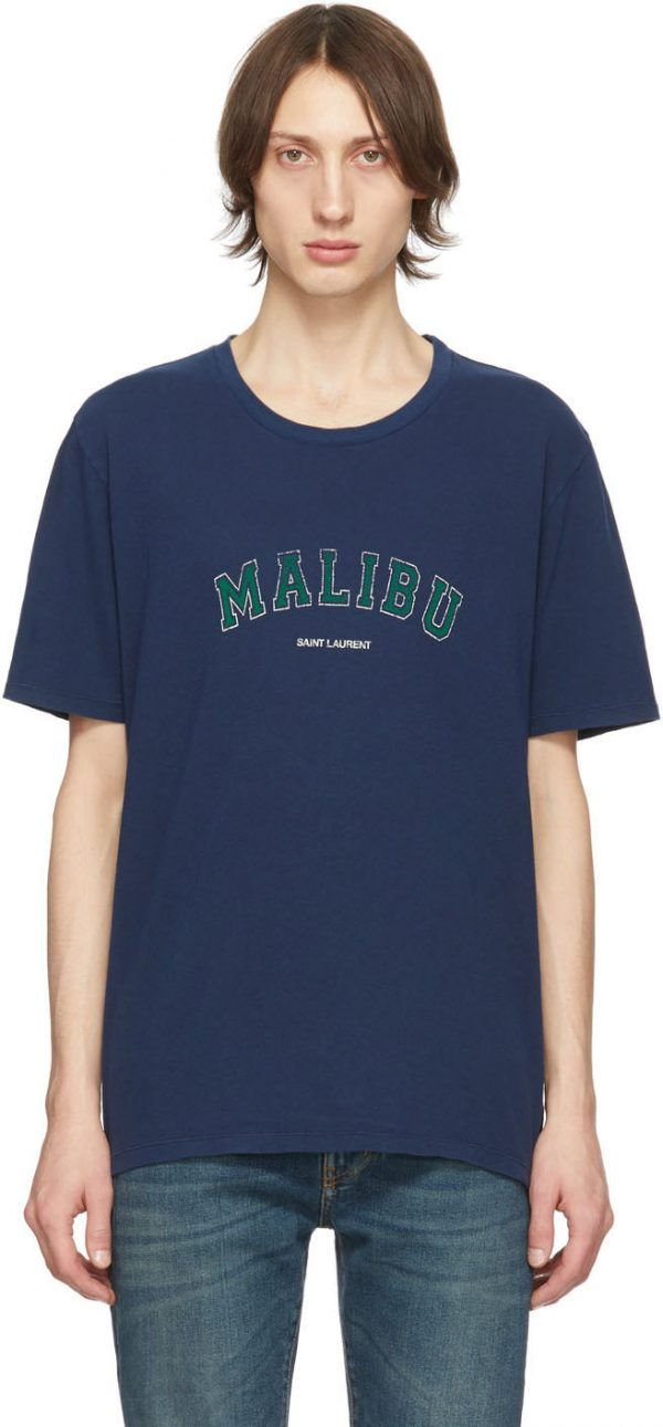 Saint Laurent Navy 'Malibu' T-Shirt