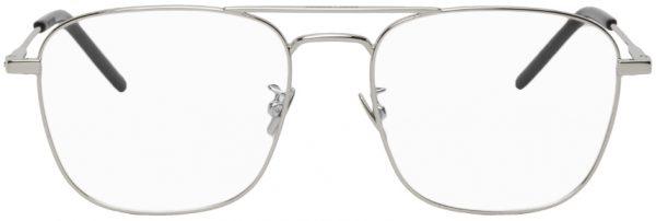 Saint Laurent Silver SL 309 Aviator Glasses