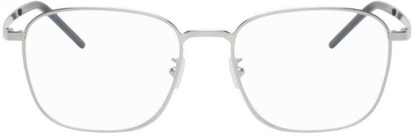 Saint Laurent Silver SL 352 Slim Square Glasses