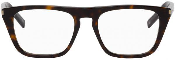 Saint Laurent Tortoiseshell SL 343 Square Glasses