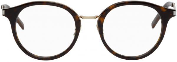 Saint Laurent Tortoiseshell SL 91 Round Glasses