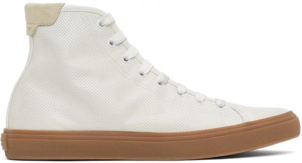 Saint Laurent White Larry High-Top Sneakers