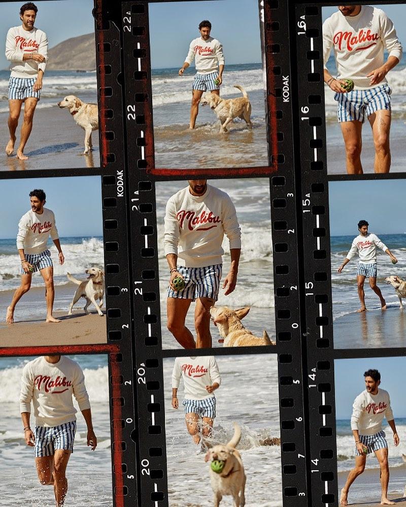 Noah Mills Inspires in Todd Snyder Beach Style