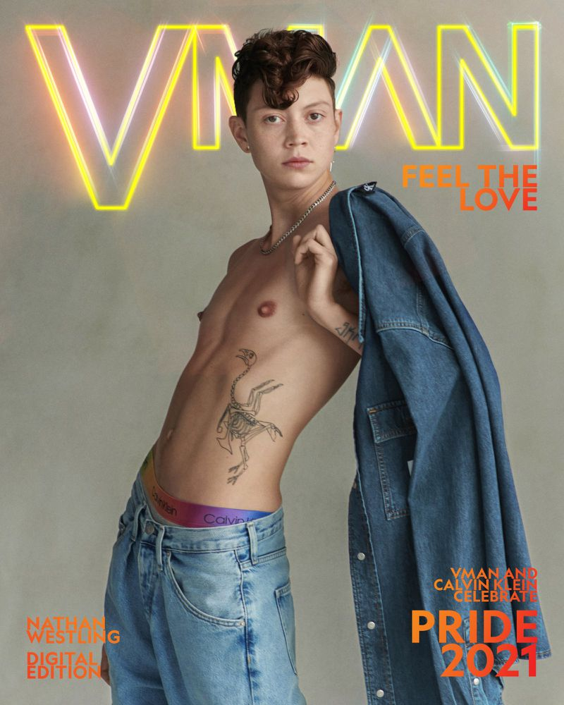 Nathan Westling covers VMAN's Pride 2021 issue.