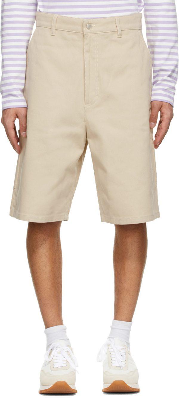 AMI Alexandre Mattiussi Beige Worker Shorts