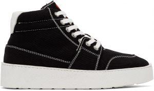 AMI Alexandre Mattiussi Black Ami De Coeur High Sneakers