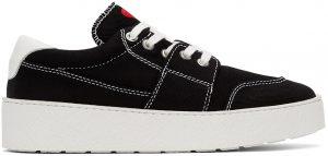 AMI Alexandre Mattiussi Black Ami De Coeur Low Sneakers