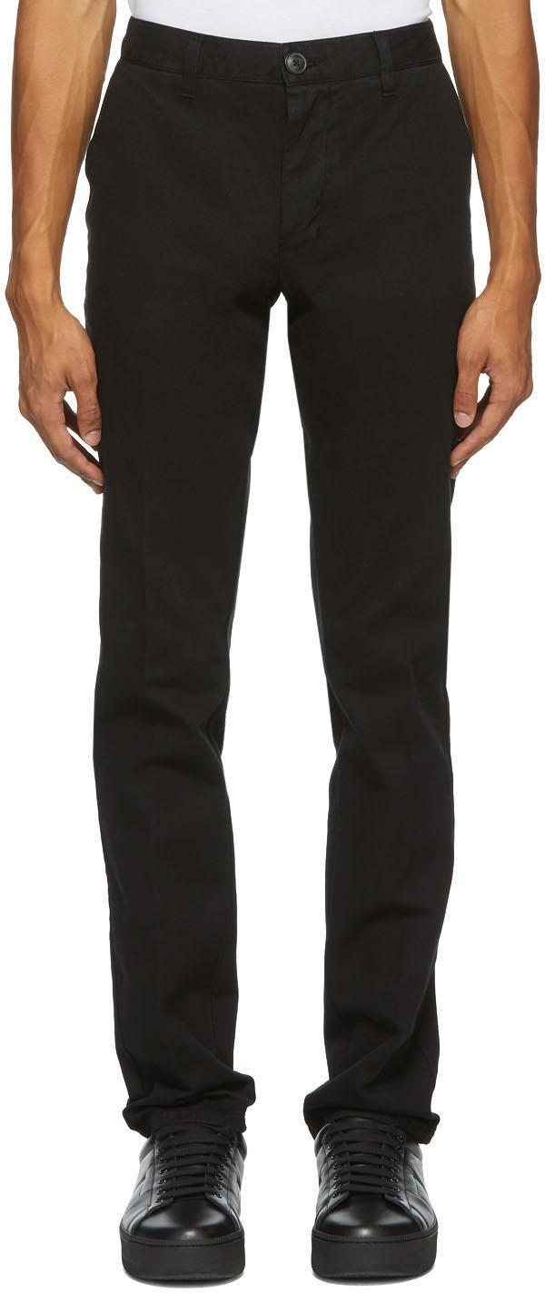 AMI Alexandre Mattiussi Black Chino Trousers
