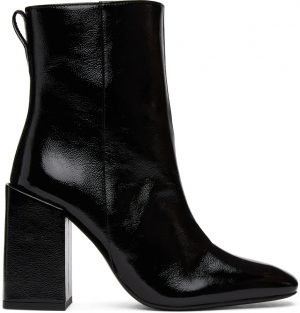 AMI Alexandre Mattiussi Black Heeled Ankle Boots