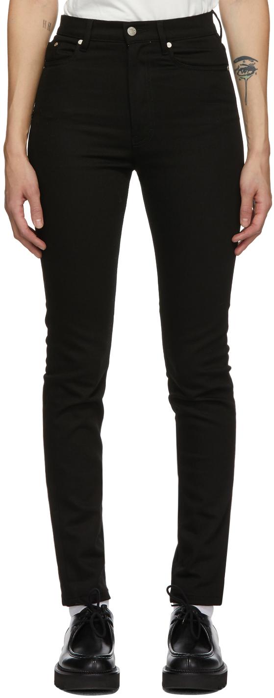 AMI Alexandre Mattiussi Black Skinny-Fit 5 Pockets Jeans