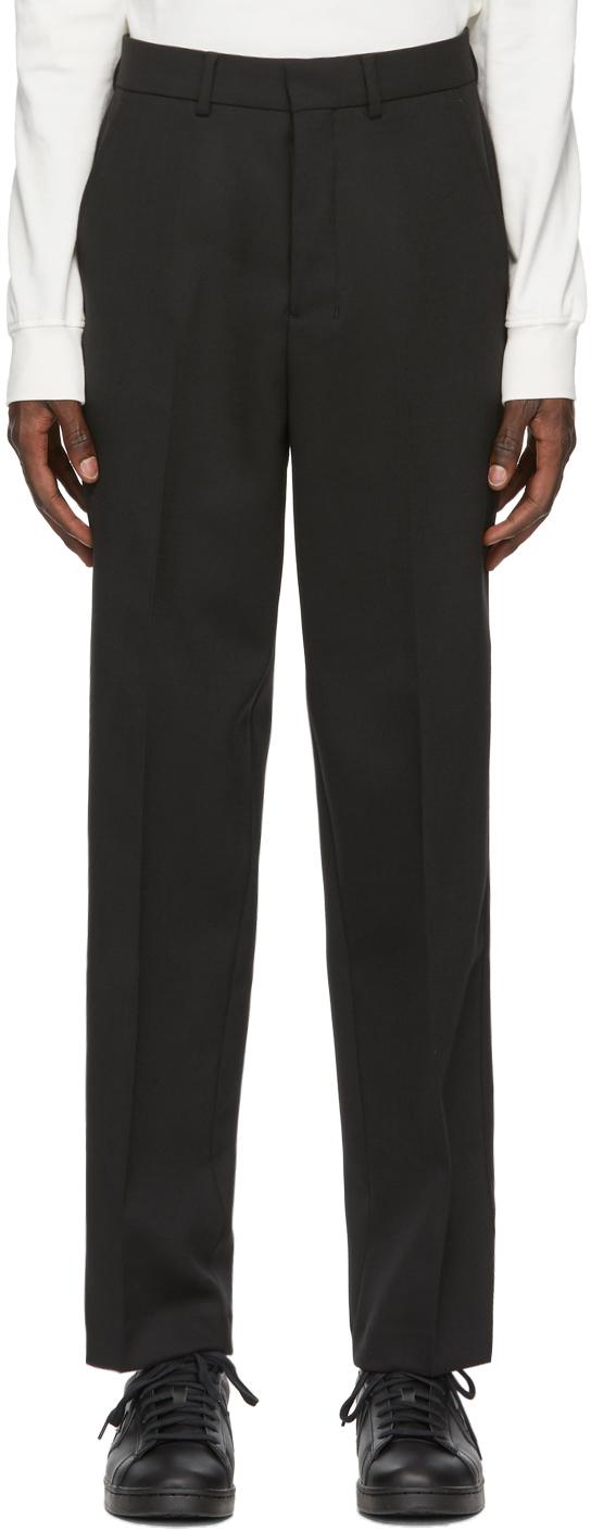 AMI Alexandre Mattiussi Black Wool Trousers