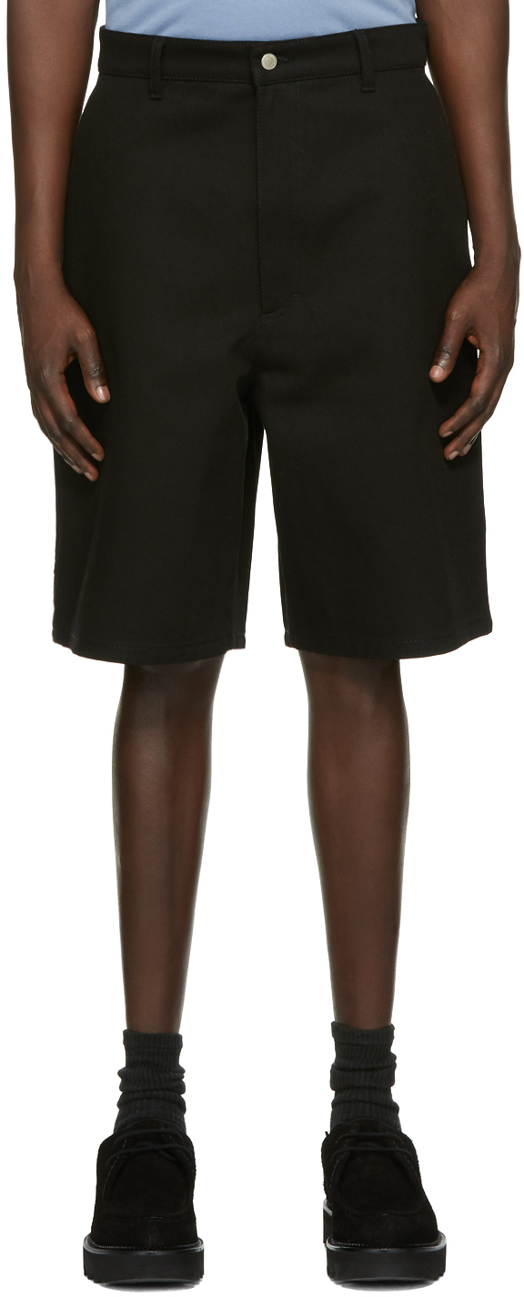 AMI Alexandre Mattiussi Black Worker Shorts