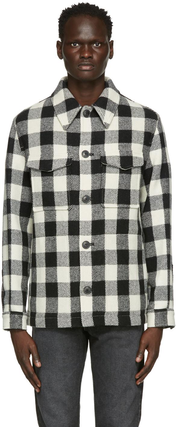 AMI Alexandre Mattiussi Black & Off-White Buttoned Jacket Shirt