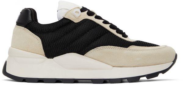 AMI Alexandre Mattiussi Black & Off-White Spring Low-Top Sneakers