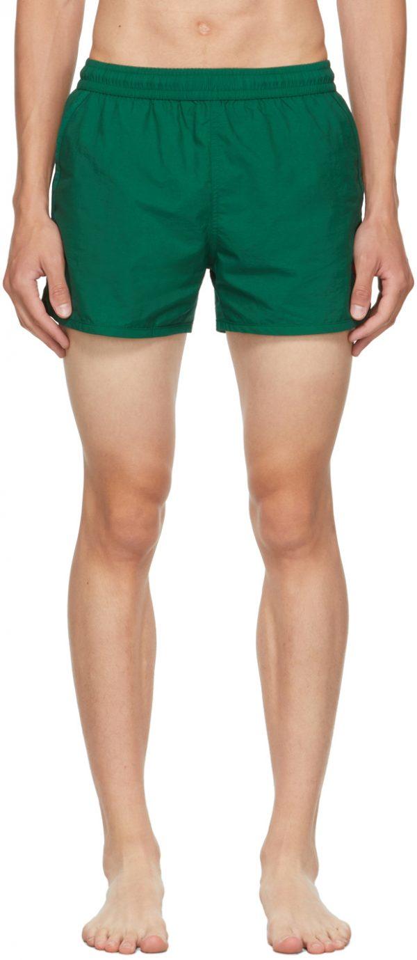 AMI Alexandre Mattiussi Green Ami De Coeur Swim Shorts